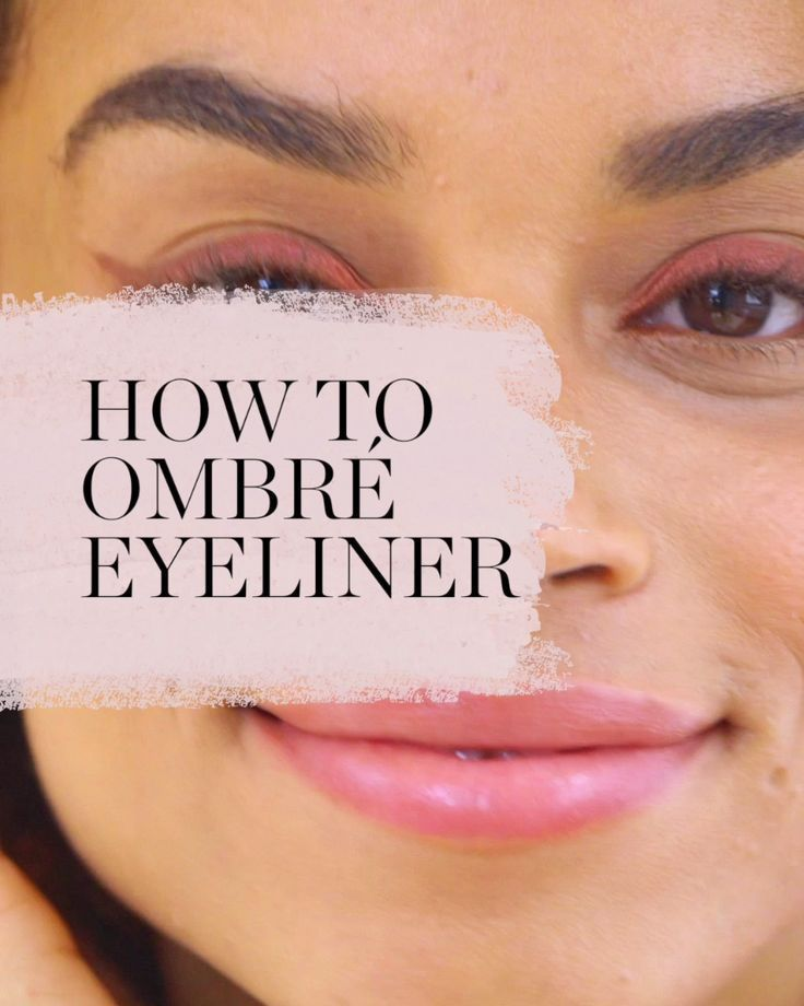 Here's how to blend 3 colors for a gorgeous ombre eyeliner look for fall.