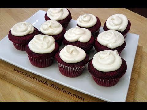 Red Velvet Cupcakes Recipe Laura In The Kitchen Red Velvet Cupcakes Cupcake Recipes Velvet Cupcakes