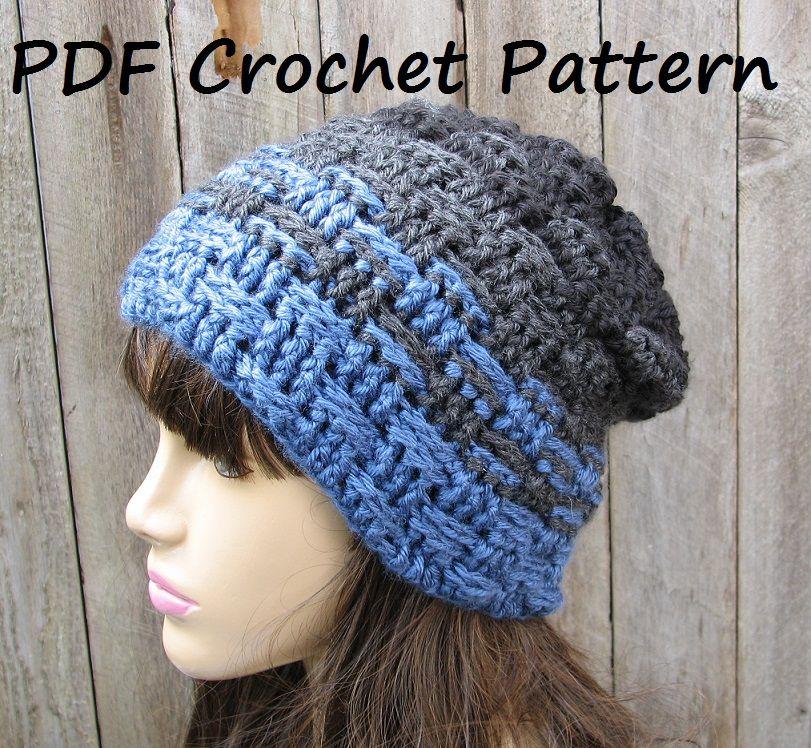 CROCHET PATTERN!!! Crochet Hat - Slouchy Hat, Crochet | Crochet ...