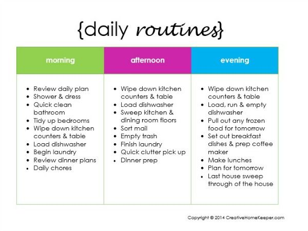 Creating a Daily Routine {plus a FREE printable Routine, Create - creating checklist