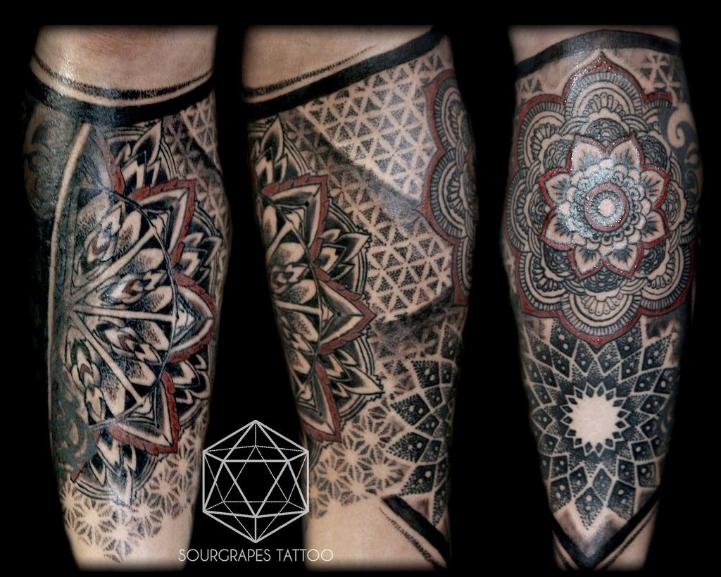 mandala dotwork leg sleeve tattoo mandalas tattoos art pinterest sleeve tattoos. Black Bedroom Furniture Sets. Home Design Ideas
