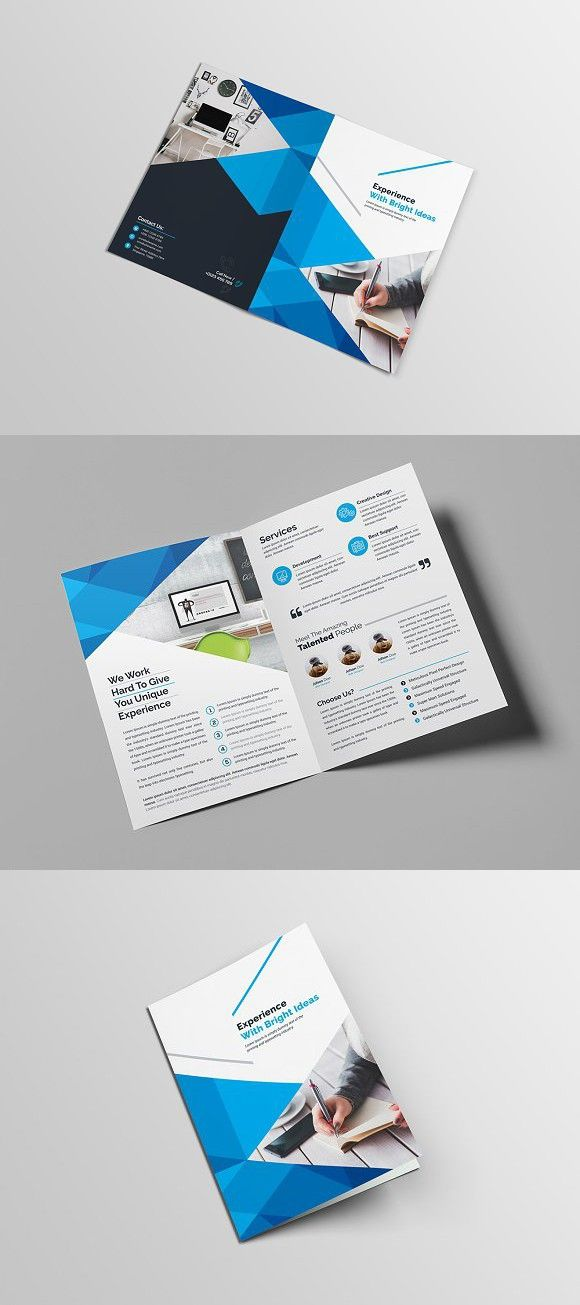 Clean Bi-Fold Brochure Brochure Templates Pinterest Bi fold