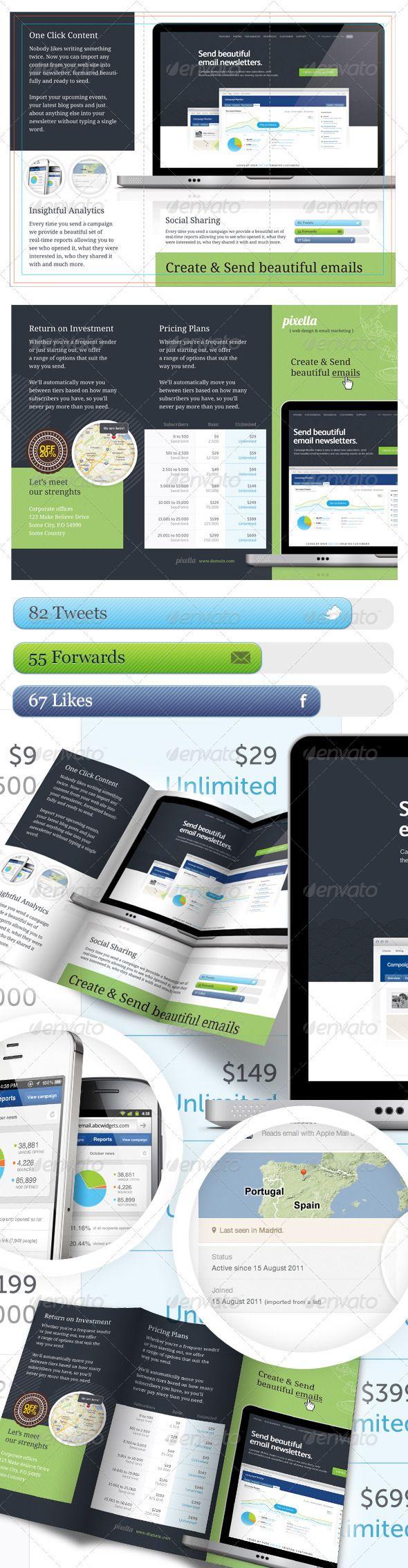 Email Marketing Brochure Template  Brochure Template Brochures