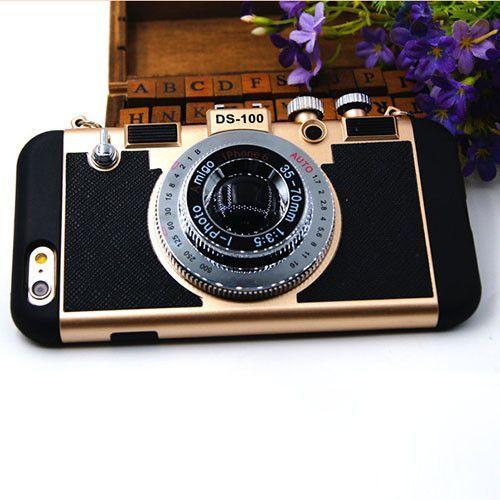 Retro Camera Style Soft Silicone iPhone Case