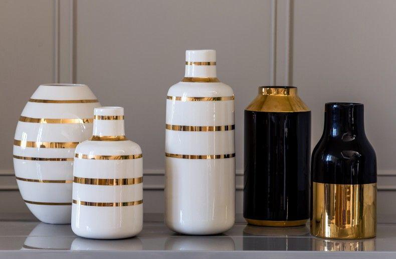 Gold Rim Bottle Vase | Kelly Hoppen London