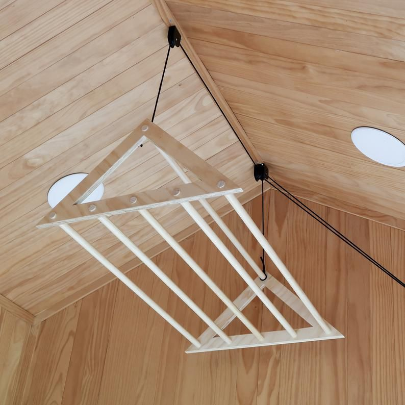 Ceiling Laundry Rack Clothes Drying Rack Wooden Drying Rack For