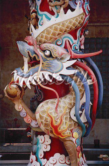 Ornate Dragon Pillar | 神仙, 中華文化, 文化