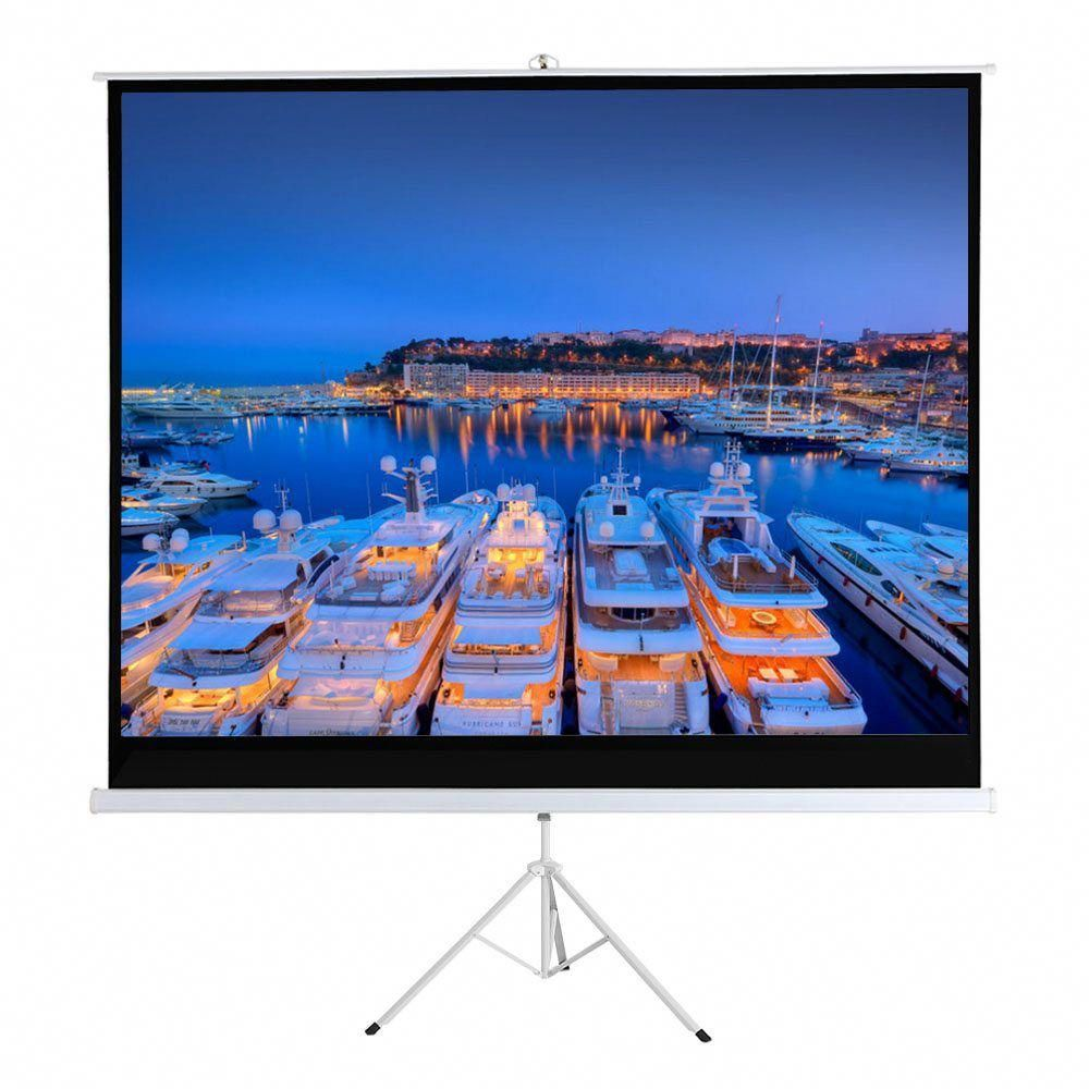 100 Inch Hd Projection Screen Manual Pull Down Diagonal Aspect Ratio 1 1 Projection Screen W Adjustable L Projection Screen Home Theater Speakers Home Theater