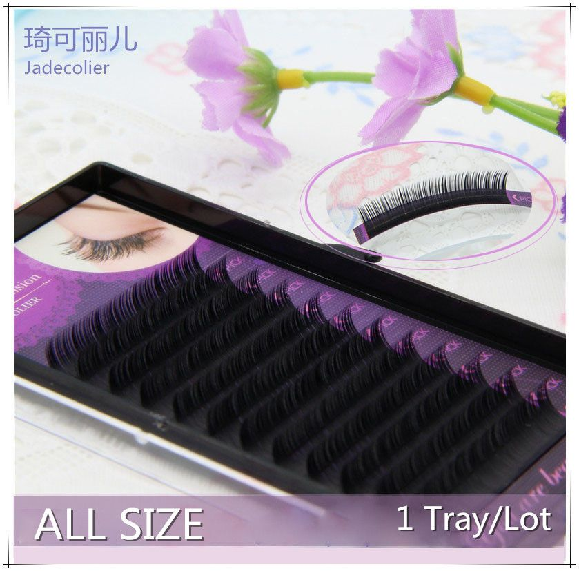 Free shipping 1 tray 12 rows C/D curl mink eyelash extension Korea