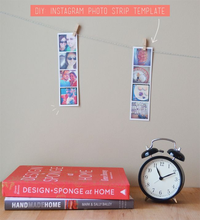 DIY: Instagram Photo Strip Template | Template, Instagram and Bookmarks