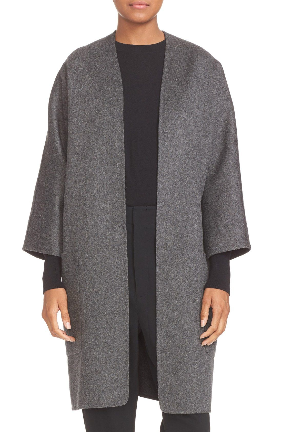 Vince Reversible Wool & Cashmere Long Cardigan Coat | Fall/Winter ...