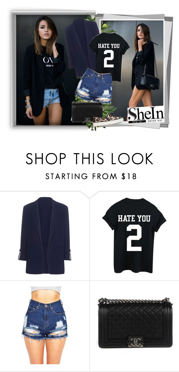 """""""Black T-shirt"""" by gold-phoenix ❤ liked on Polyvore featuring Pinko, Chanel and Stuart Weitzman"""