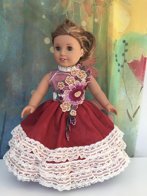 American Girl Fancy Flower Ruffle Gown | American girls, Fancy and ...