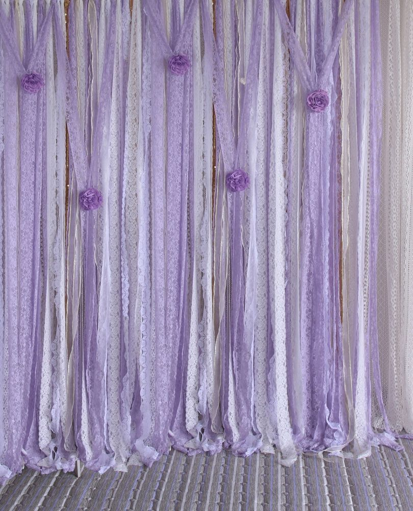 Purple Lace Photography Props Wedding Baby Shower Backdrop Nursery