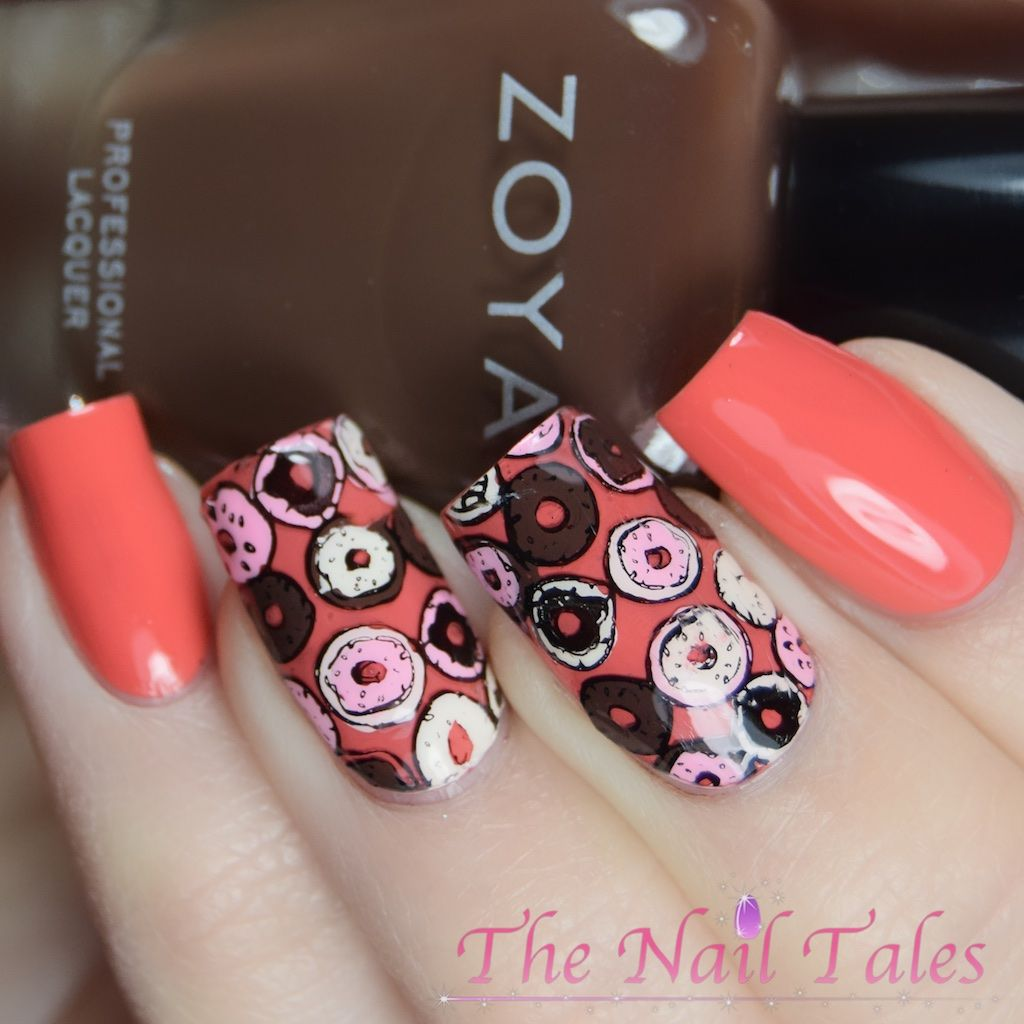 Donut Nail Art Reverse Stamping Bundle Monster Sweet and Nutty Plate ...