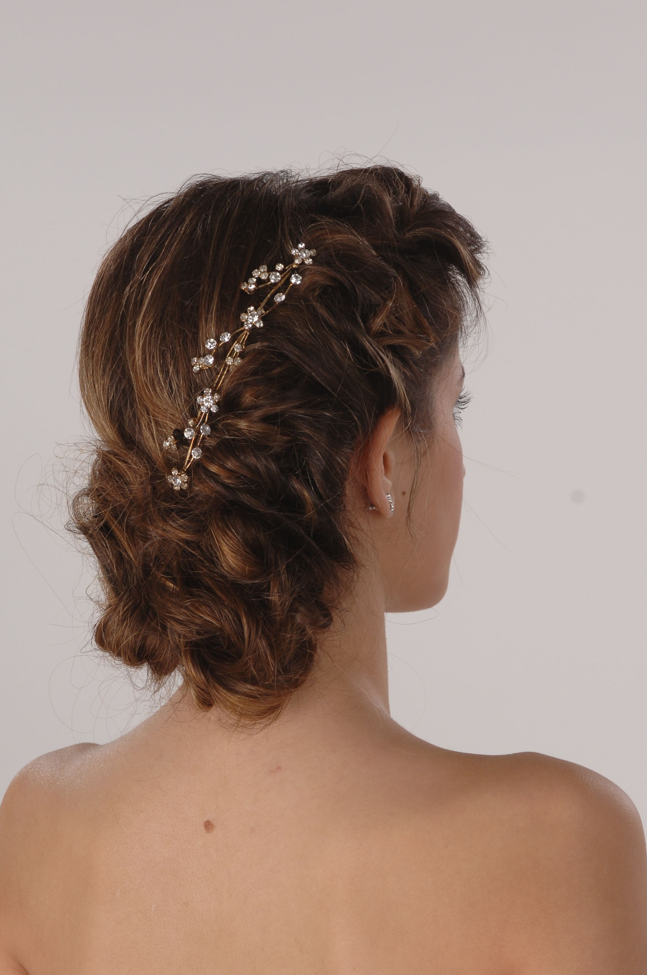 cascade updo texture. wedding hair specialist theresa bullock the