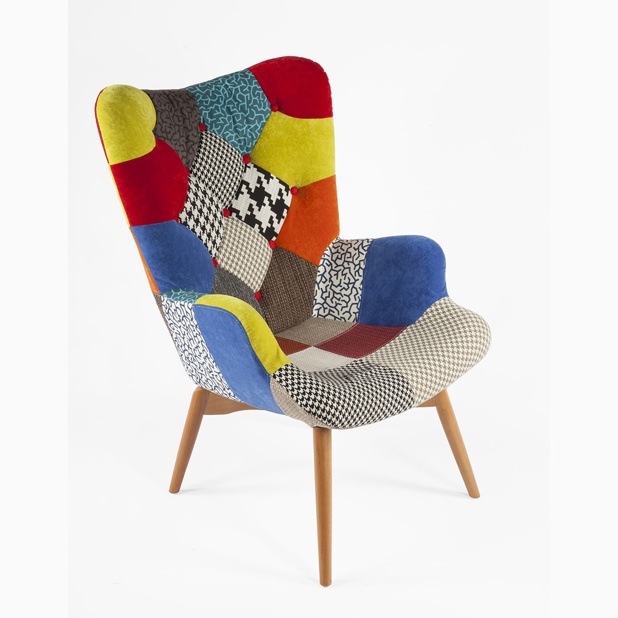 Contour Lounge Chair - Patchwork F - *PICK UP ONLY | Patchwork chair ...