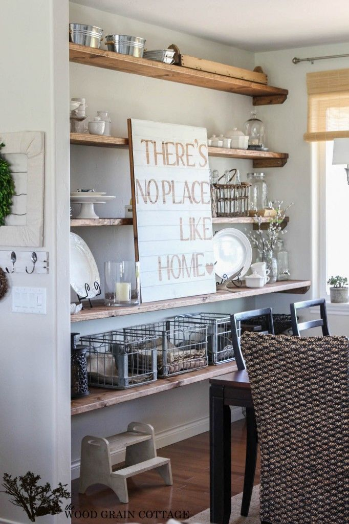 Styled Dining Room Shelving The Wood Grain Cottage Dining Room Shelves Diy Dining Room Open Dining Room