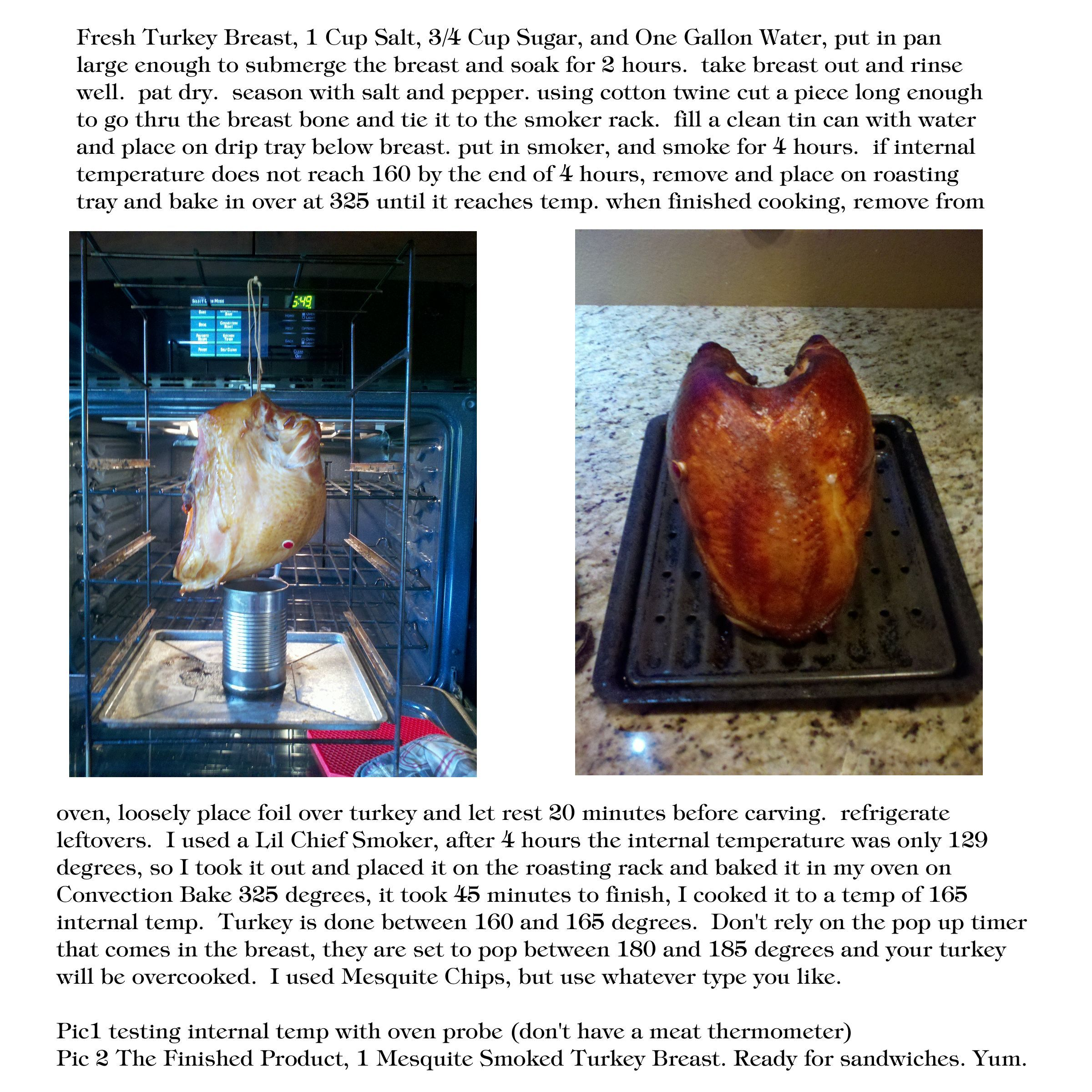 Smoked Turkey Breast How To Lil Chief Smoker Finish In Oven