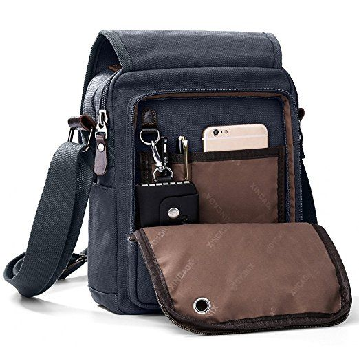 Business Man Bag for Work Shoulder Messenger Bag Small Men Purse Messenger Bag