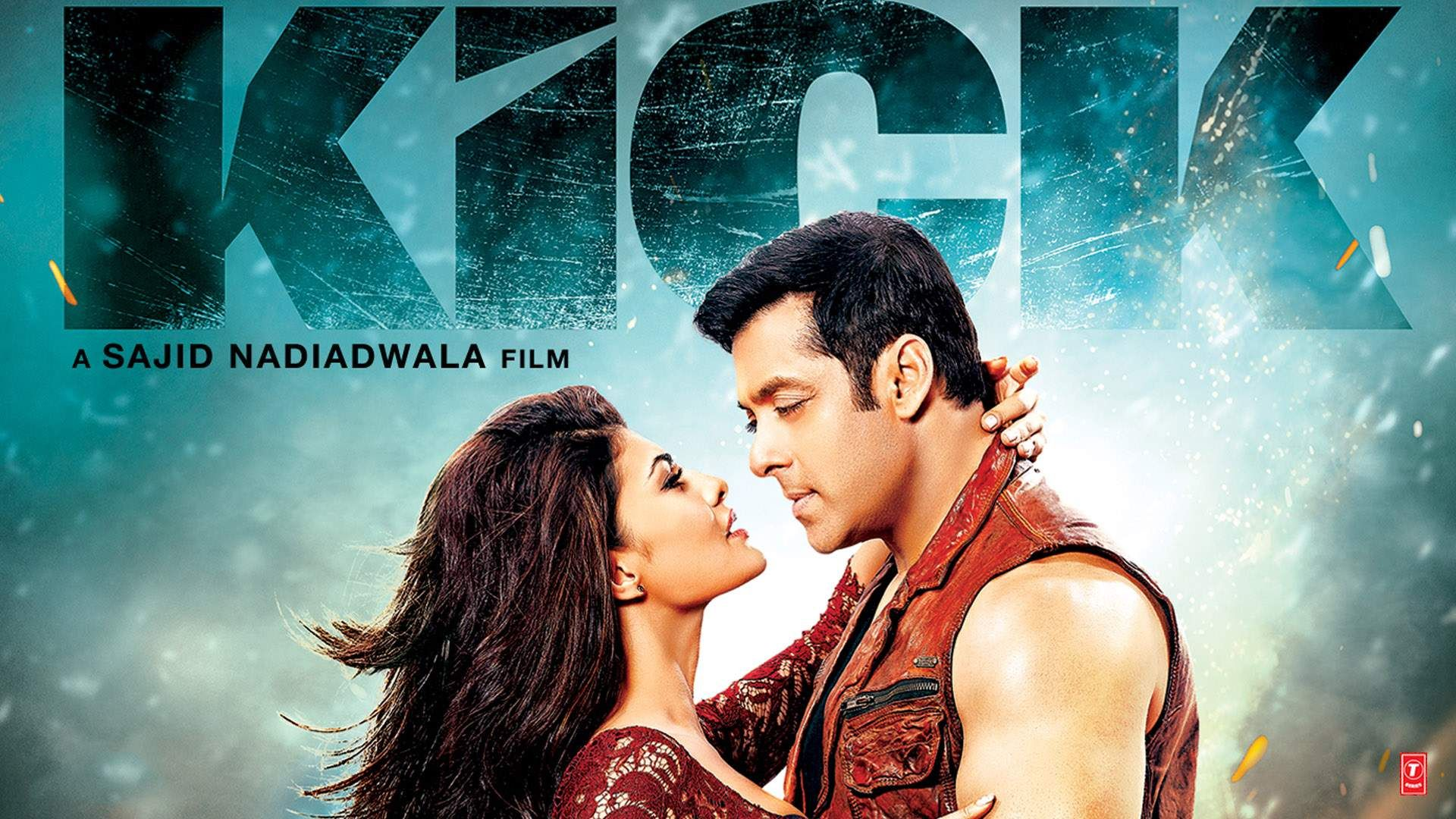 Salman Khan Jacqueline Fernandez In 2014 Bollywood Kick Movie Poster