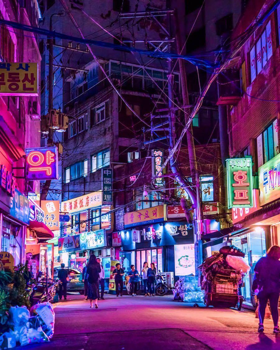 Noealzii Shows You A New Side Of Seoul S Famous Nighttime Beauty Noealzii Seoul Southkore Aesthetic Korea City Aesthetic South Korea Photography