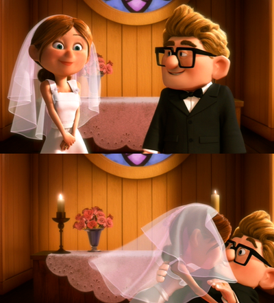 I now pronounce you husband and wife, you may kiss the.....OK.