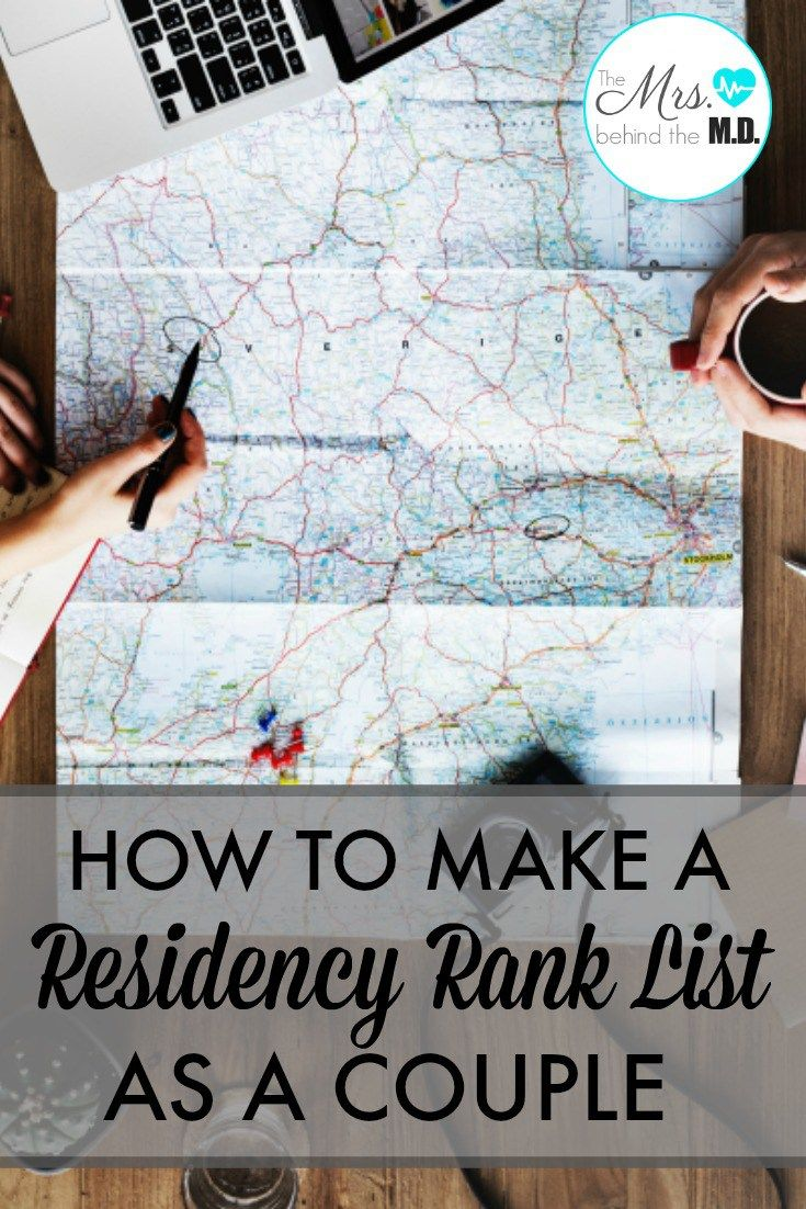 How to Make a Residency Rank List as a Couple | Med School