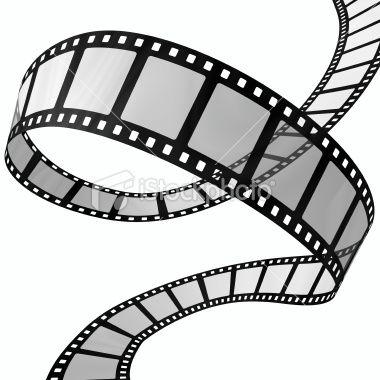 A Rendered Curvy Filmstrip On White Background Movie Reels Film Reels Film Strip