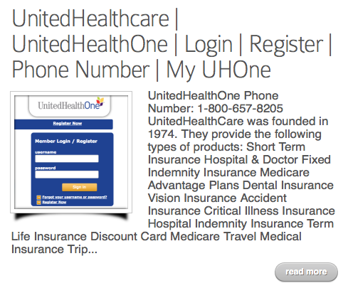Www Uhone Com Customers Member Portals Dental Insurance Vision