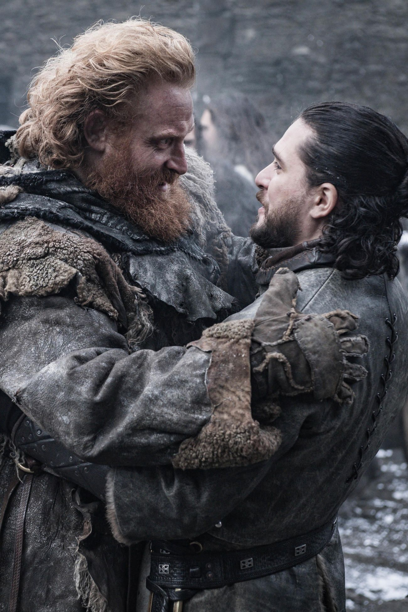 All the Photos From Game of Thrones Season 8 : Tormund and Jon Snow in Game of Thrones Season 8, Episode 2: A Knight of the Seven Kingdoms | TV Guide