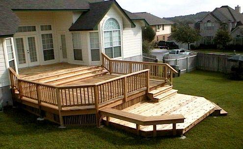 Upper And Lower Deck Decks Backyard Building A Deck Patios