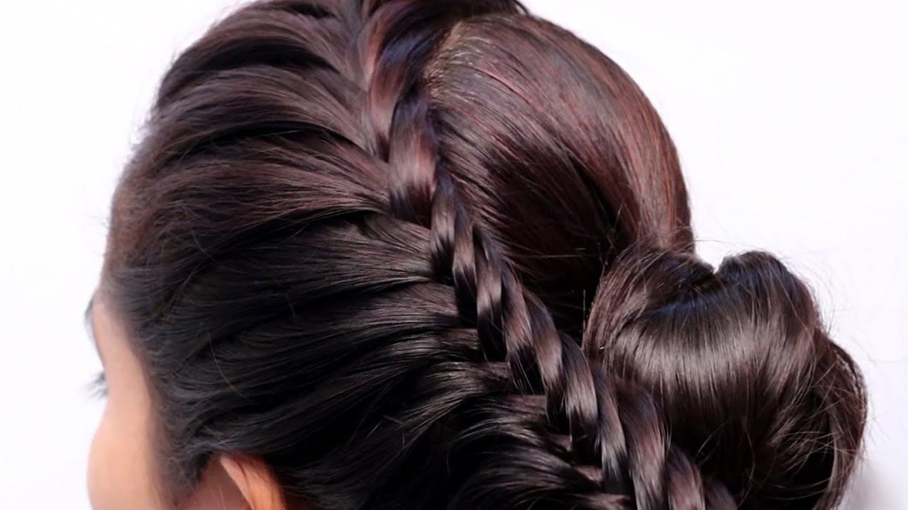 Latest Prom Big Bun Hairstyle With Trick New Hairstyle Ladies Hair Bun Hairstyles Black Wedding Hairstyles Stylish Hair