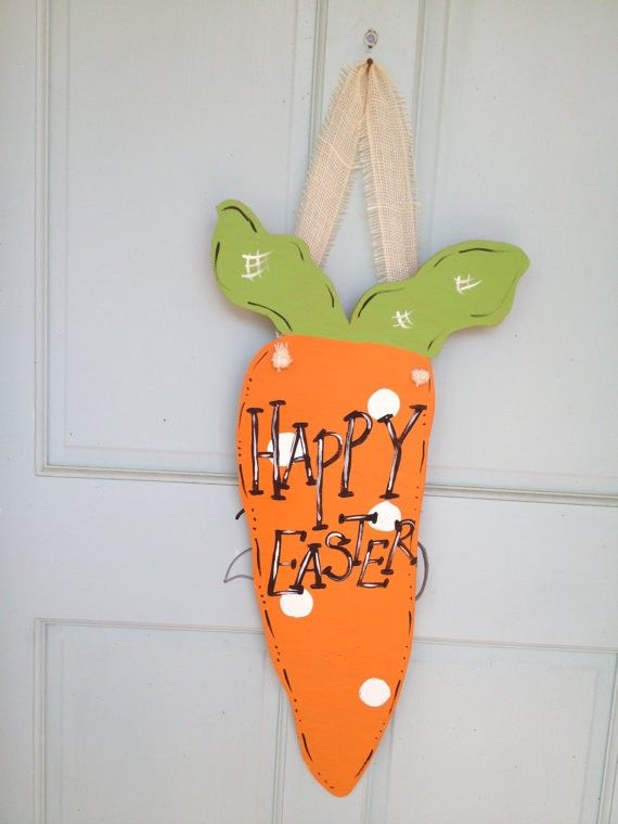 Easter Carrot Door Sign Wreath Ideas DIY Decoration