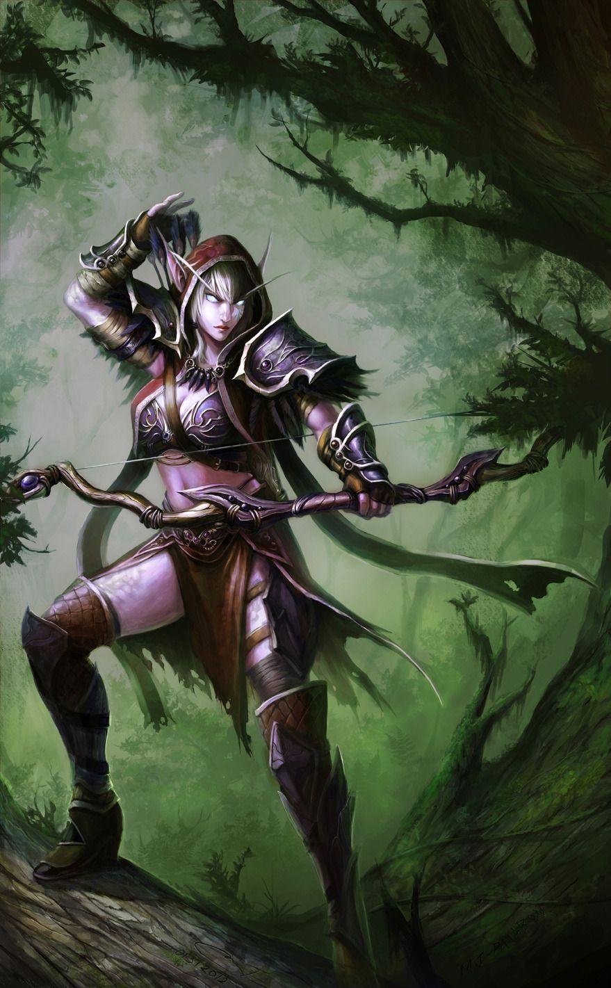 верности картинки ночных эльфов охотников самого