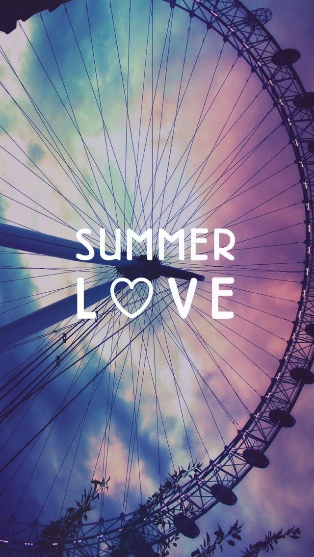 Summer Love Ferris Wheel free iPhone background [L♡VE ...