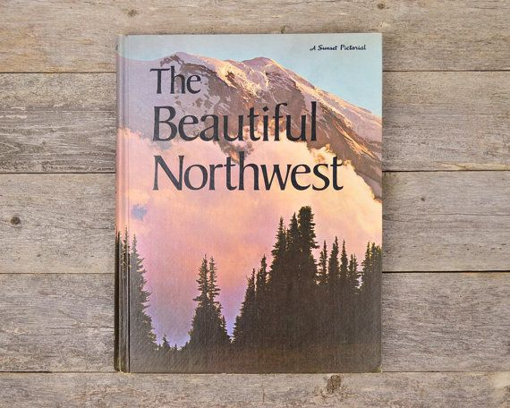 Vintage 1970s Coffee Table Book The Beautiful Northwest Lake Gifts Coffee Table Books Hops Gift