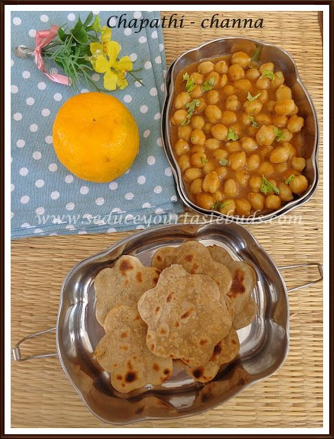Kids Lunch Box Series # 8 | Oats Chapathi - Channa Masala, Fruit - Seduce Your Tastebuds...