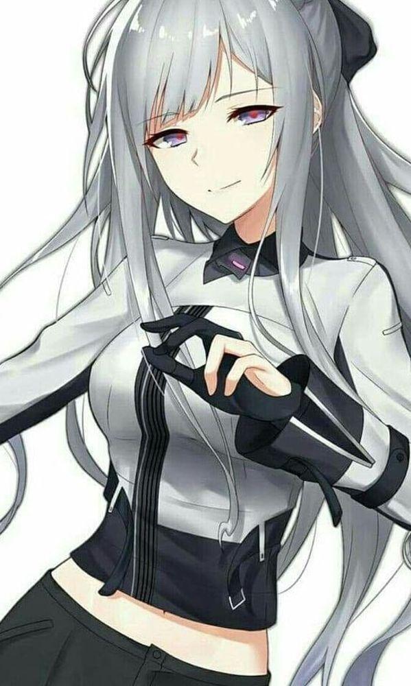Pin On Anime Hot Girls White Hair