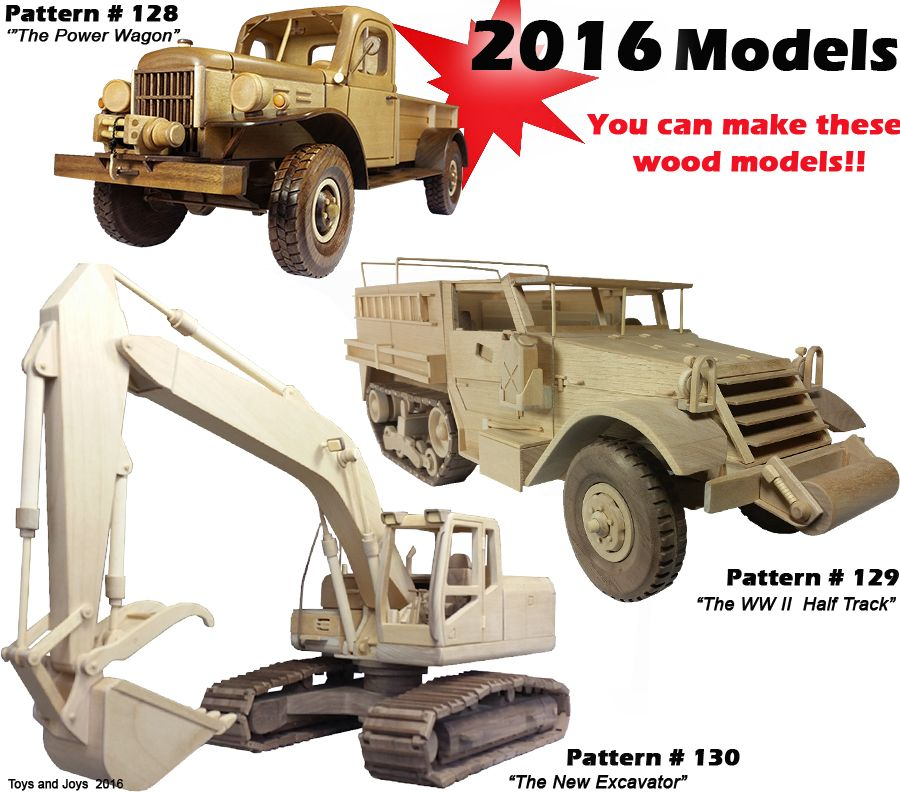 Toys And Joys Woodworking : Wooden toy plans patterns models and woodworking