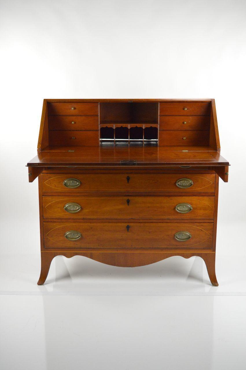 New England Antique Drop Front Desk 1807
