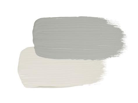 Stucco Gray Horse By Benjamin Moore Trim Winter White