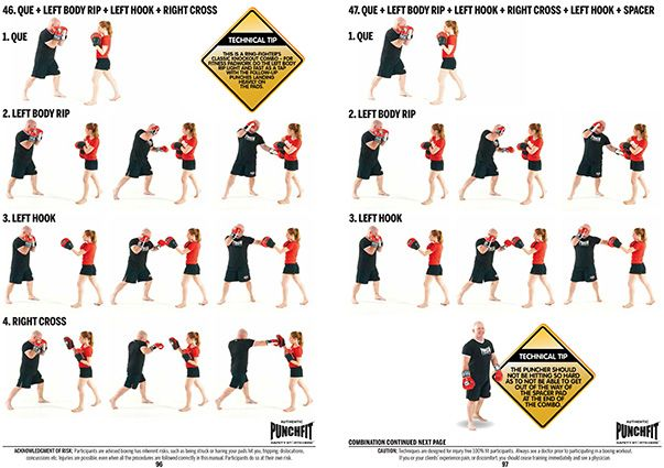 Boxing Book Punchfit 50 Padwork Boxing Combos Punch Equipment Shadow Boxing Workout Fighter Workout Boxing Equipment