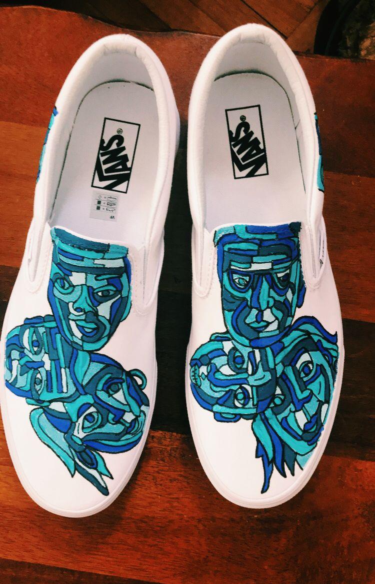 Painted shoes, Custom vans shoes