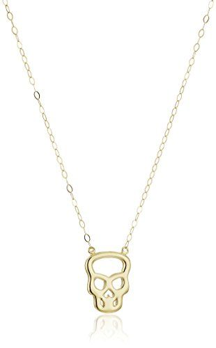 14k Yellow Gold Skull Pendant Necklace 17 Click Image To Review More Details It Is An Affiliate Link Skull Pendant Skull Pendant Necklace