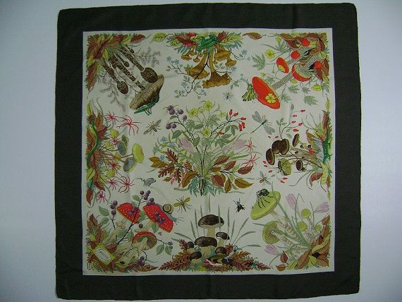 Accornero Mobili ~ Vintage gucci silk scarf mushrooms and insects v accornero