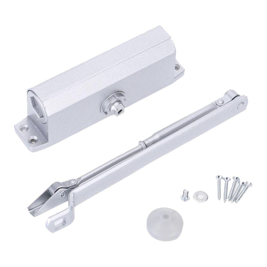 Aluminum Alloy 35kg Automatic Hydraulic Door Closer With Parallel Bracket E4i2 Automatic Door Opener Aluminium Alloy Automatic Door