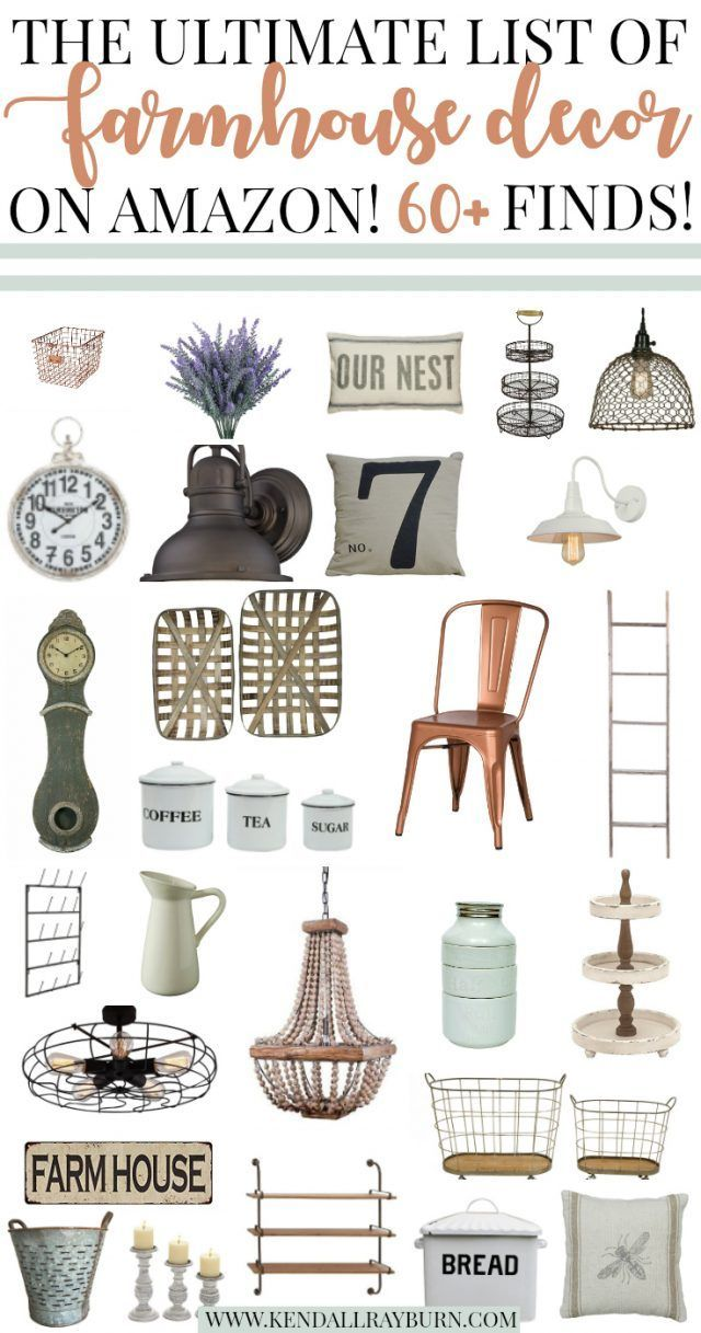 The Ultimate List Of Farmhouse Decor On Amazon Country House