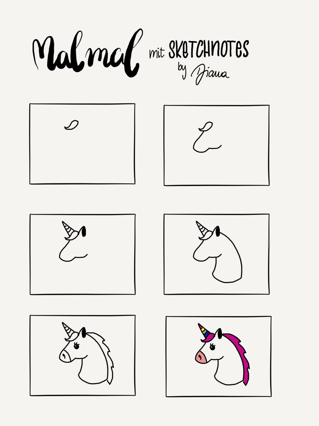 pin auf unicorn's