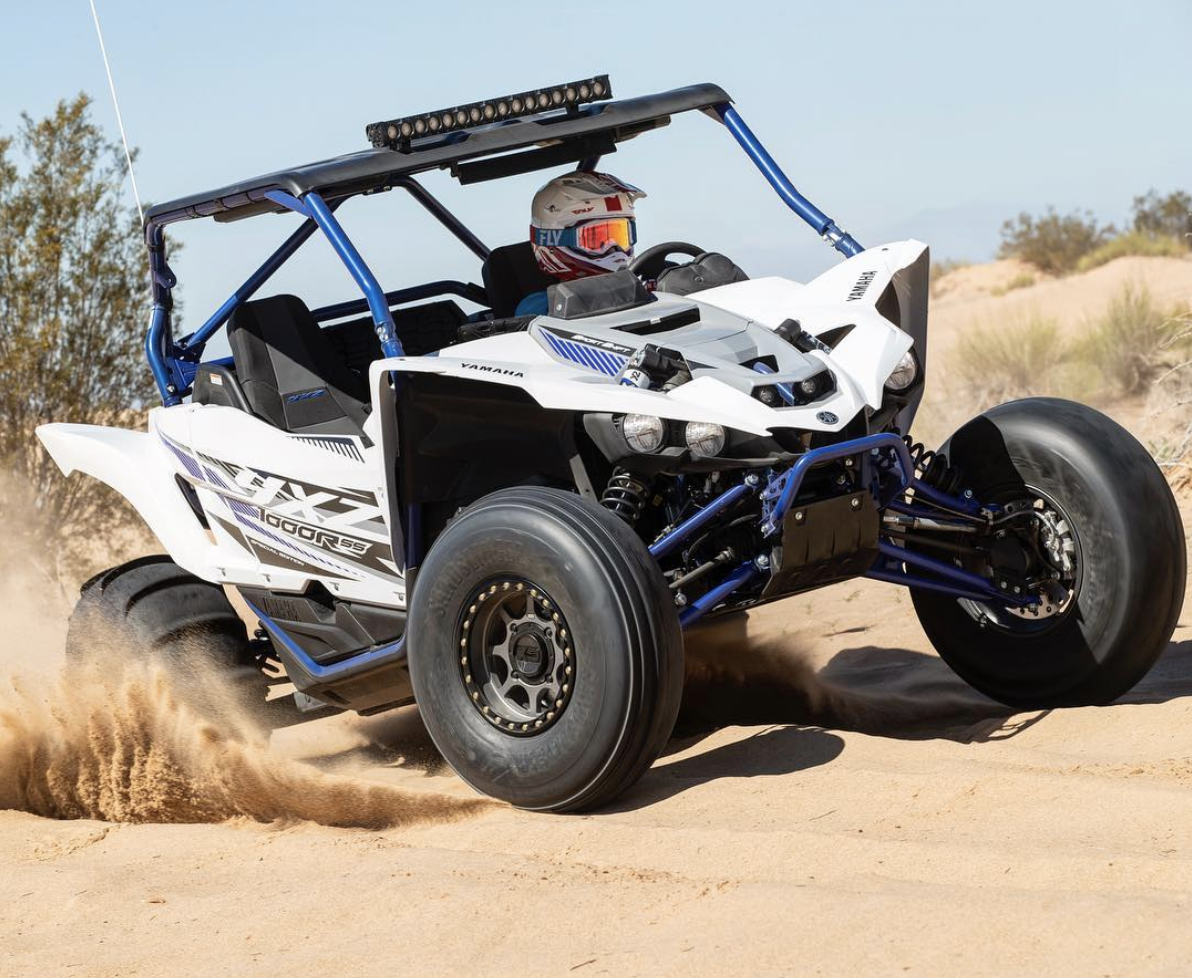 Dirtwheelsmag Sand Tires And Wheels Are A Very Welcome Addition To The Yxz1000r For Dune Runners Still Stoked On That Yamaha Yamaha Accessories Rock Crawler
